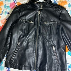 Lucky 🍀 Brand Black leather biker jacket 🧥